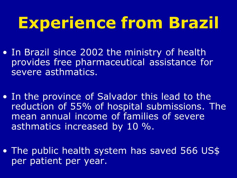 Experience from Brazil
