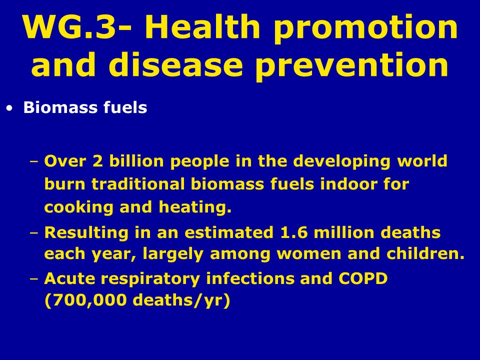 WG.3- Health promotion and disease prevention