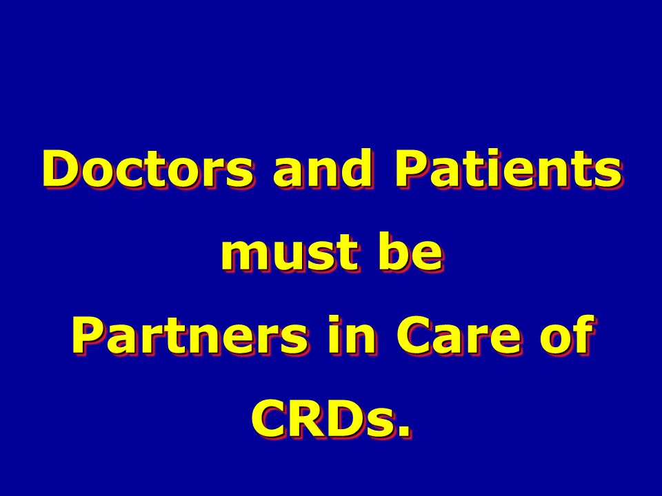 Partners in Care of CRDs.
