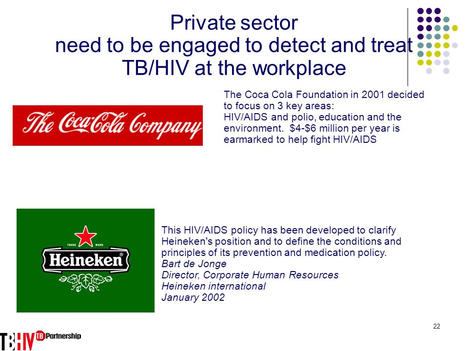 need to be engaged to detect and treat TB/HIV at the workplace