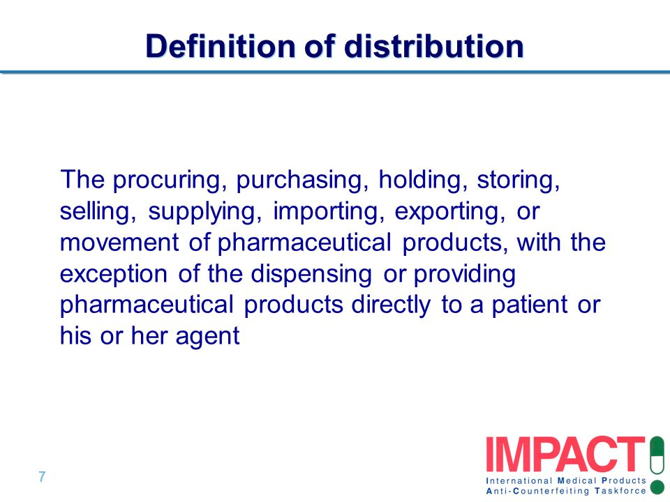 Definition of distribution