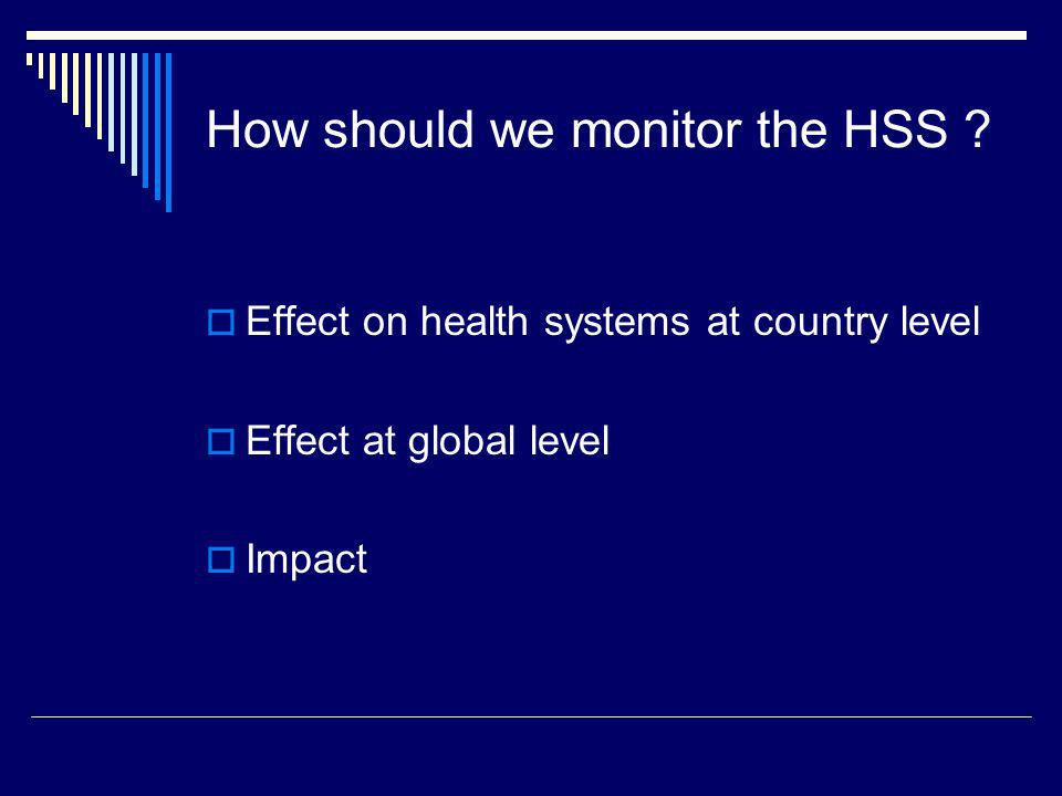 How should we monitor the HSS