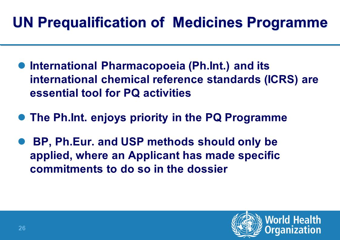 UN Prequalification of Medicines Programme
