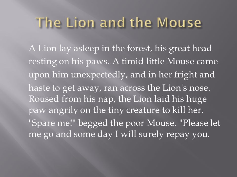 A short story typically with animals conveying a moral  - ppt video