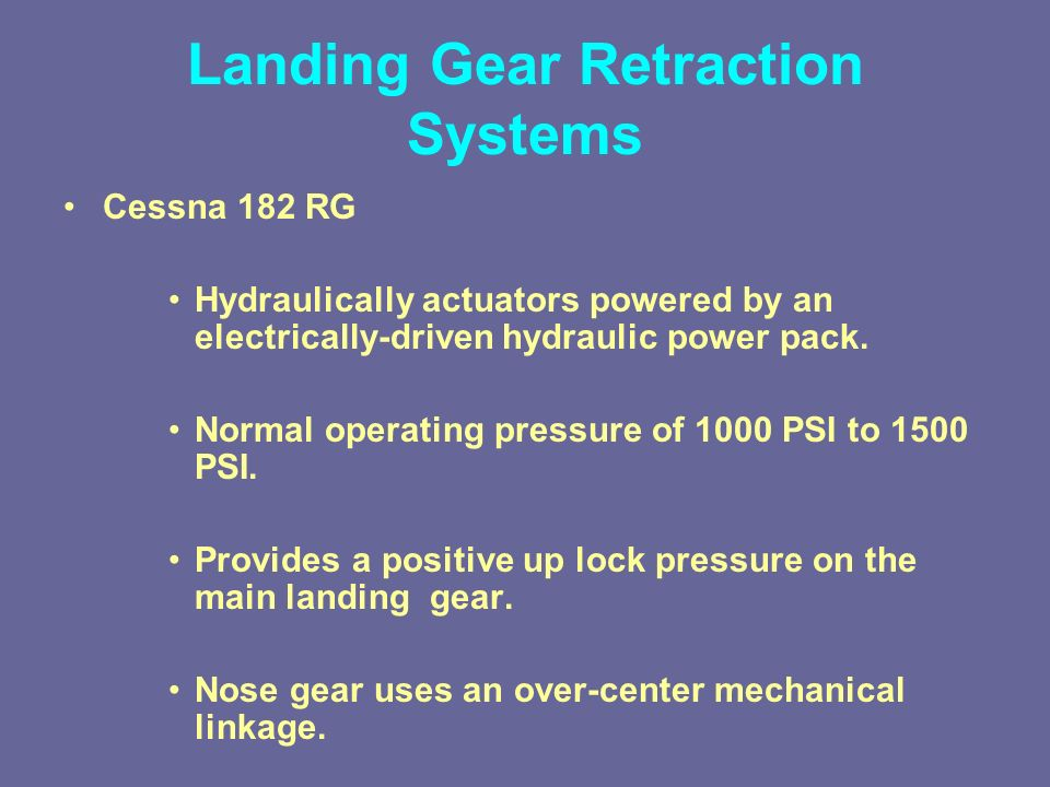 Lesson 12: Aircraft Landing Gear - ppt video online download