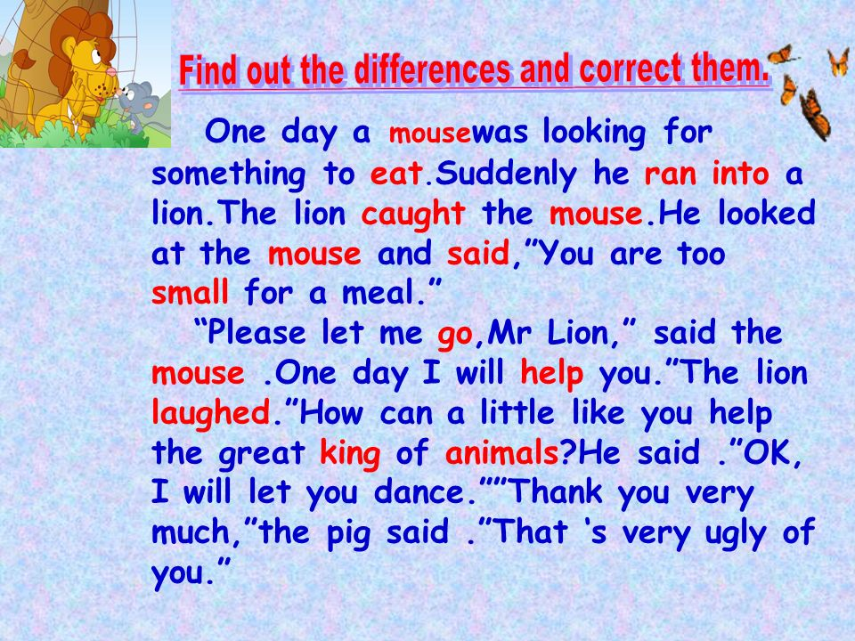 lion n mouse story
