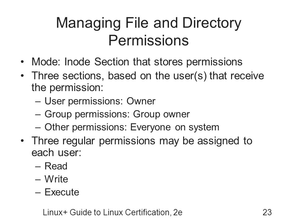 Managing File and Directory Permissions