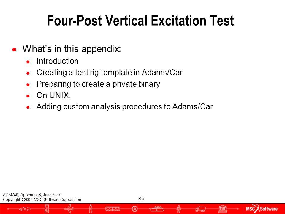 FOUR-POST VERTICAL EXCITATION TEST - ppt download