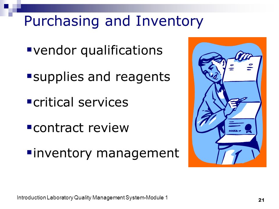 Purchasing and Inventory