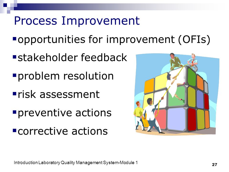 Process Improvement opportunities for improvement (OFIs)