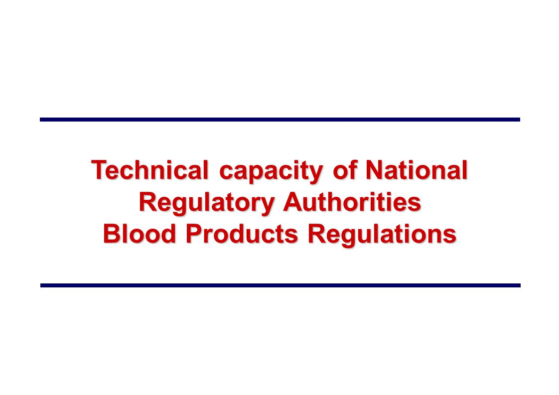 Technical capacity of National Regulatory Authorities