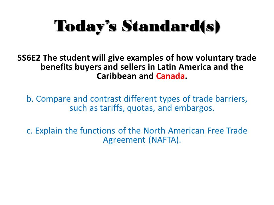 R48 Trade Barriers Nafta Ppt Download