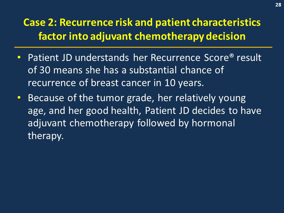 The Value Of An Intermediate Recurrence Score Result In The