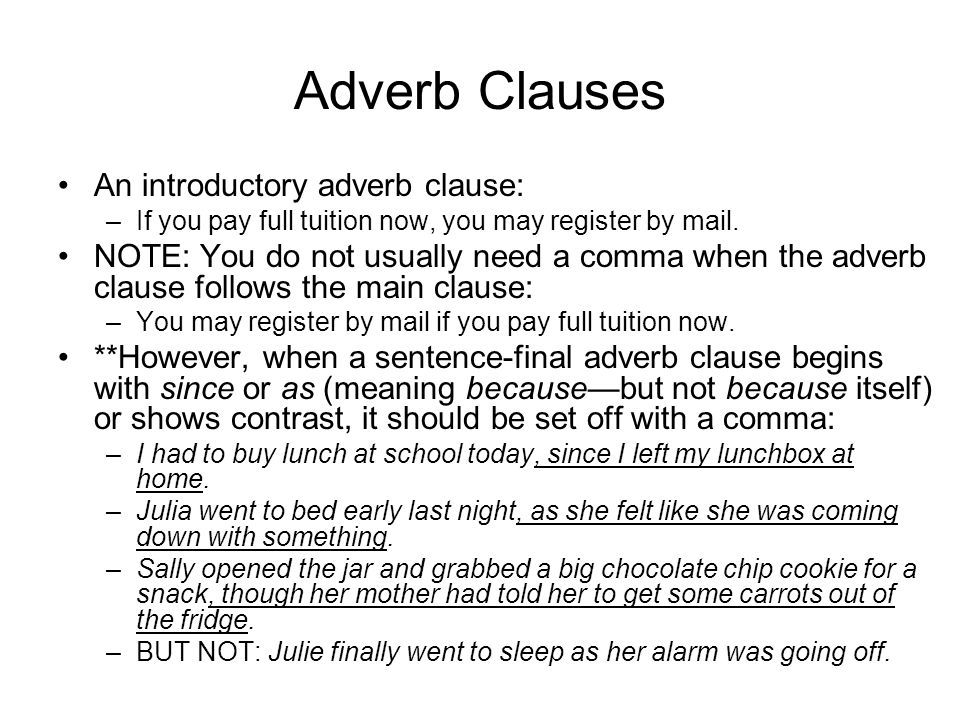 Introductory Adverb Clause Examples Image Collections Example