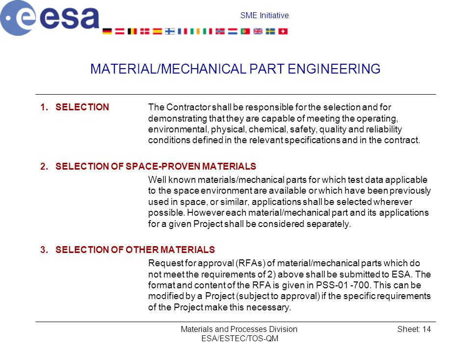 MATERIAL/MECHANICAL PART ENGINEERING