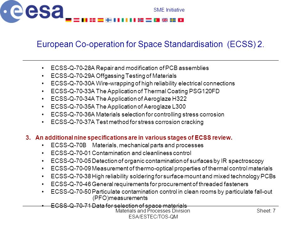 European Co‑operation for Space Standardisation (ECSS) 2.