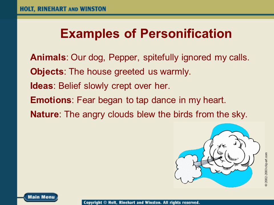 Examples Of Personification Image Collections Example Cover Letter