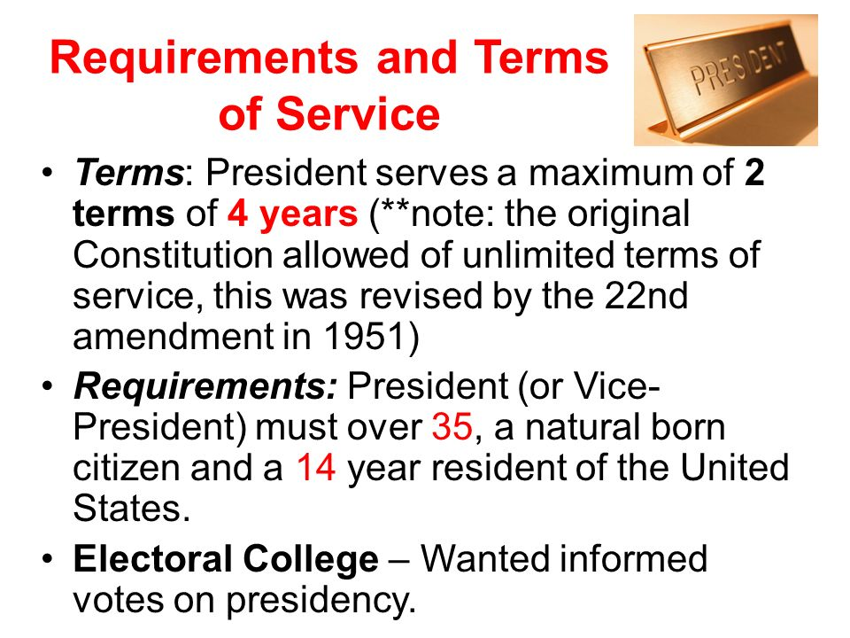 Requirements and Terms of Service