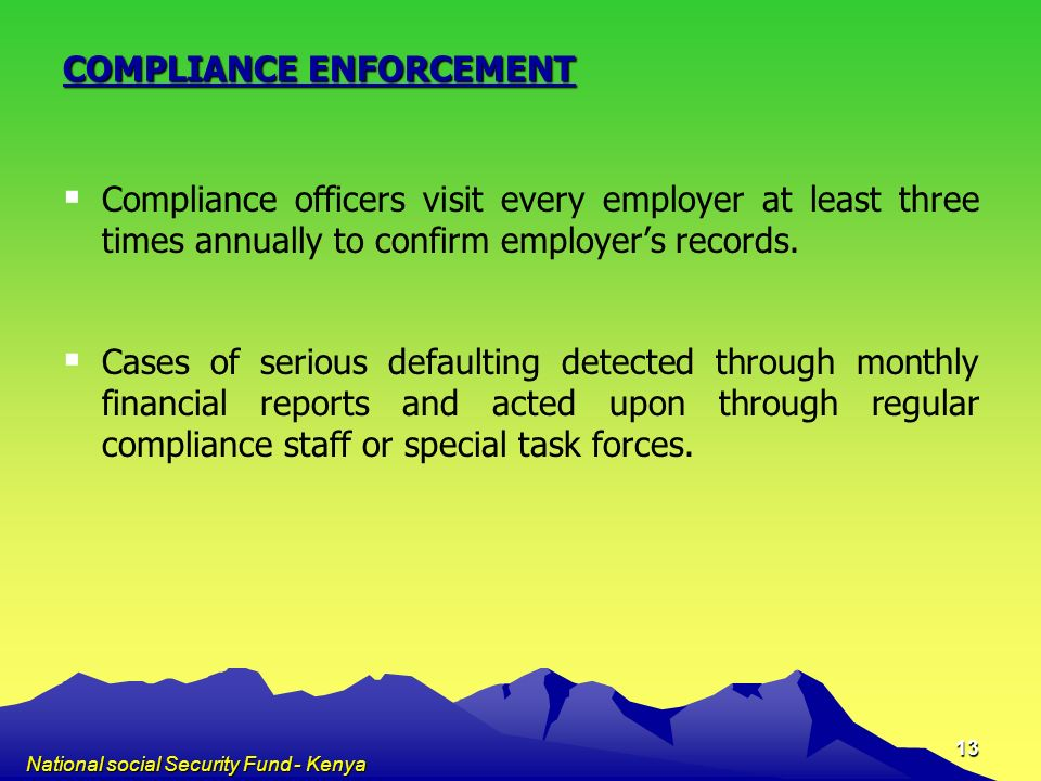 COMPLIANCE ENFORCEMENT