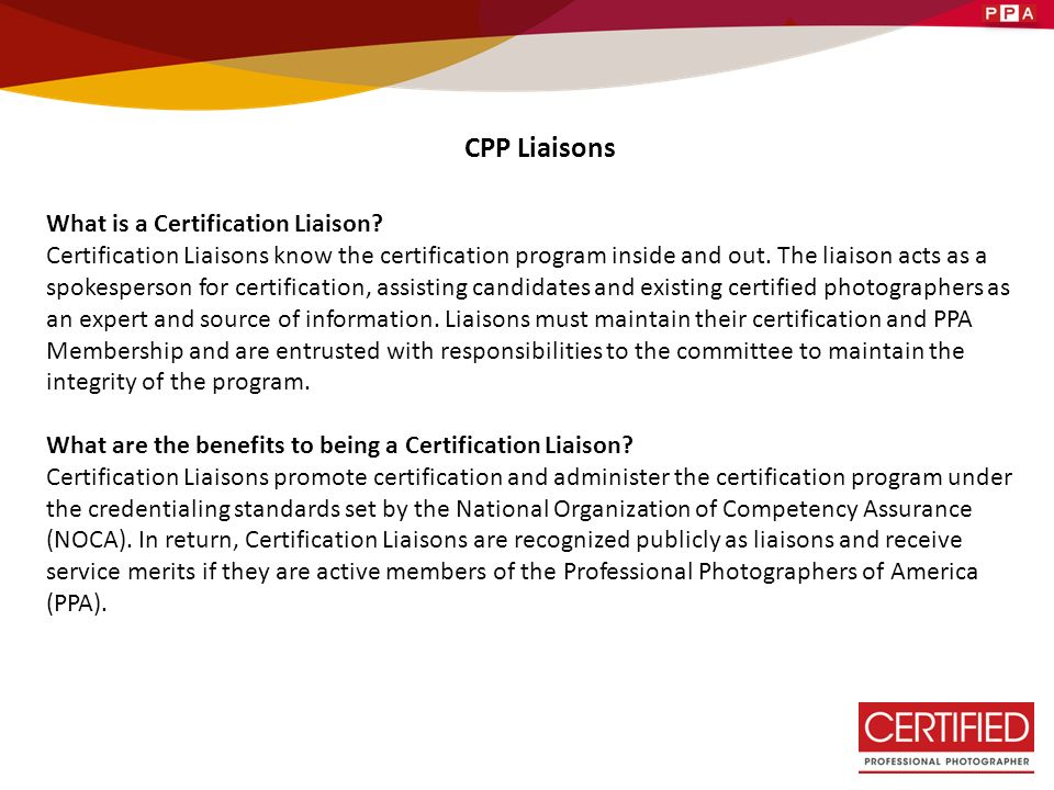 Certified Professional Photographer - ppt download