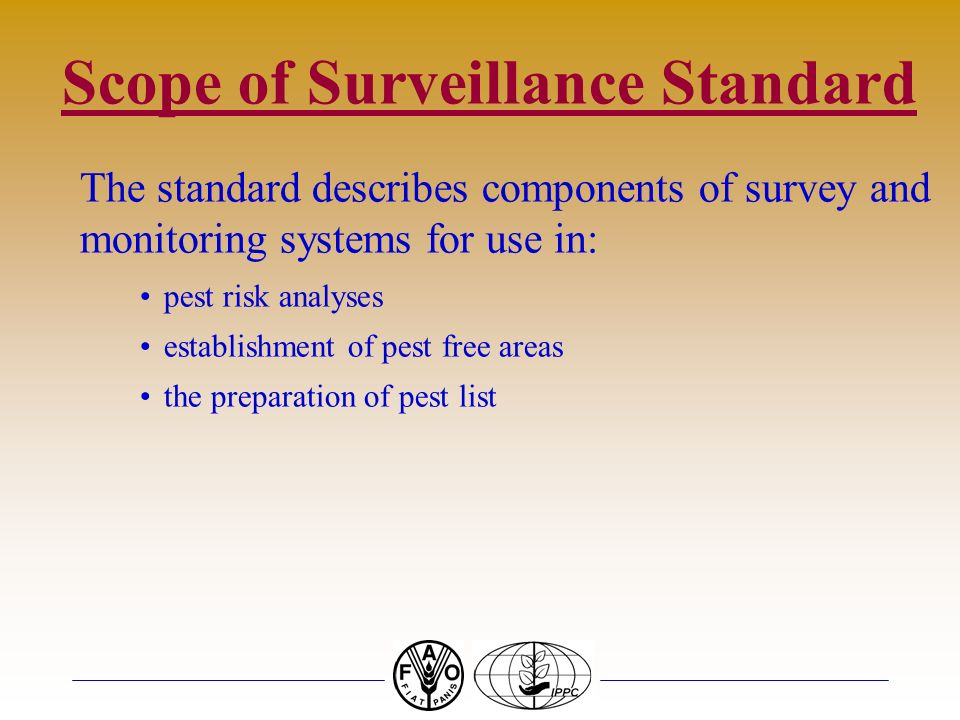 Scope of Surveillance Standard