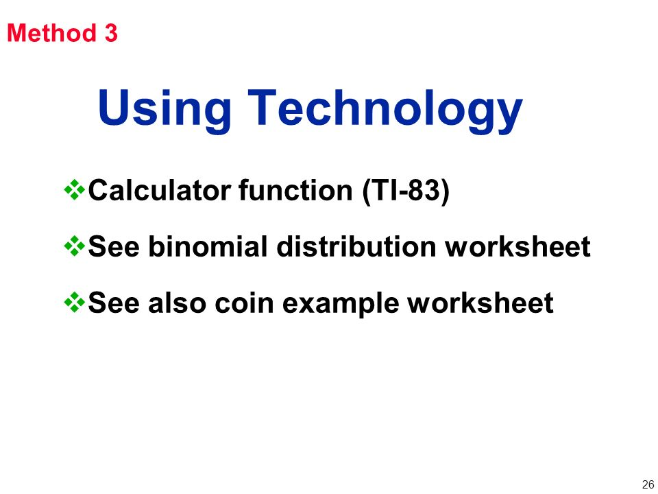 Chapter 4 Probability Distributions Ppt Video Online Download. 26 Using Technology. Worksheet. Negative Binomial Distribution Worksheet At Clickcart.co