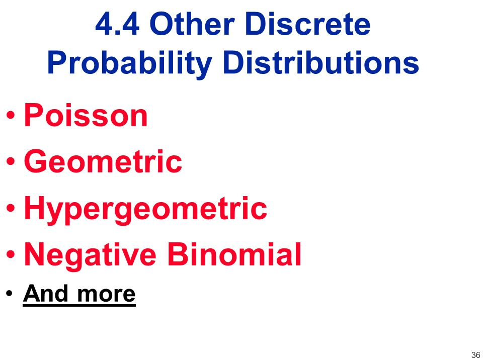 Chapter 4 Probability Distributions Ppt Video Online Download. 44 Other Discrete Probability Distributions. Worksheet. Negative Binomial Distribution Worksheet At Clickcart.co