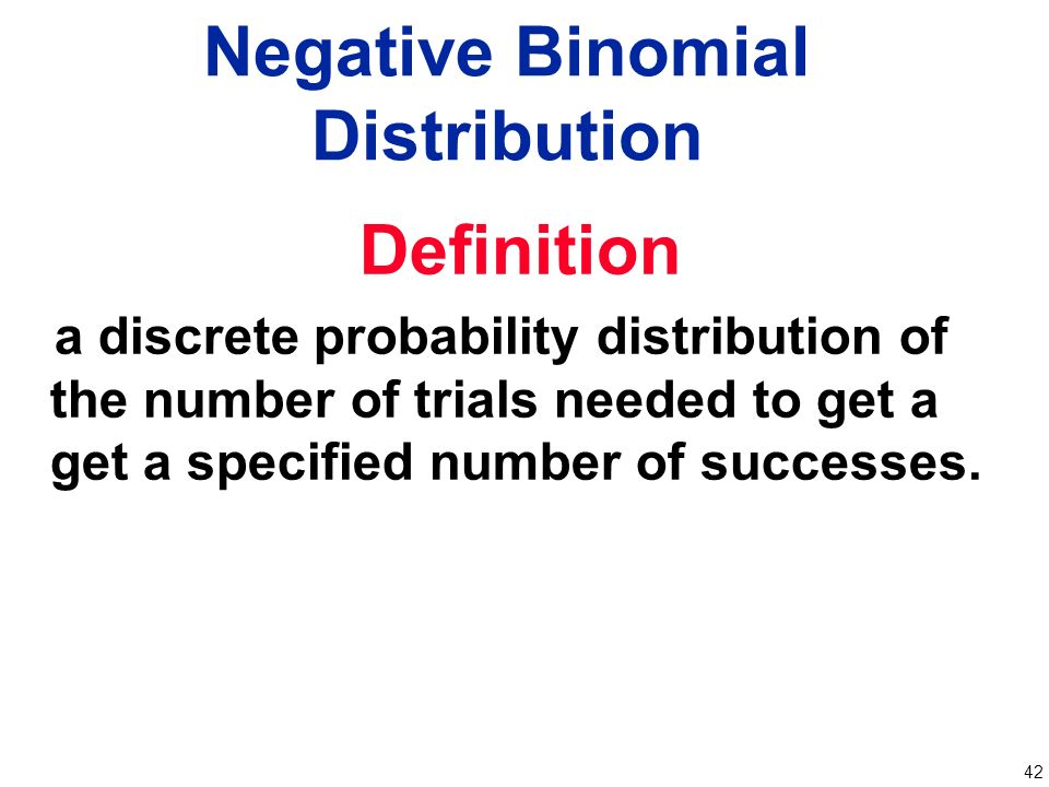 Chapter 4 Probability Distributions Ppt Video Online Download. Negative Binomial Distribution. Worksheet. Negative Binomial Distribution Worksheet At Clickcart.co