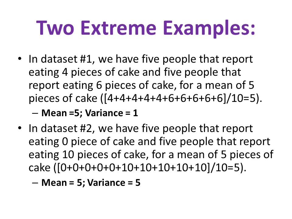 Two Extreme Examples: