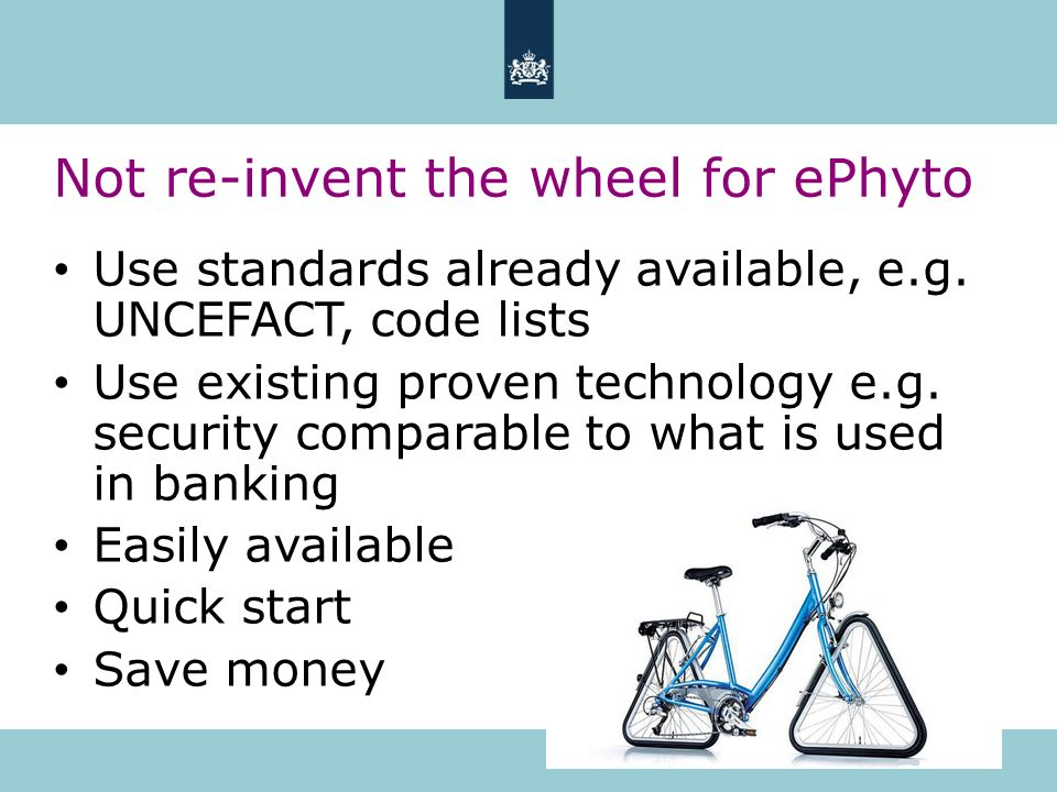 Not re-invent the wheel for ePhyto