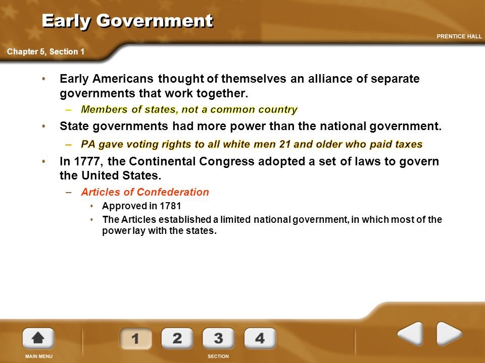 Chapter 5 The Constitution Of The United States 1776 1800