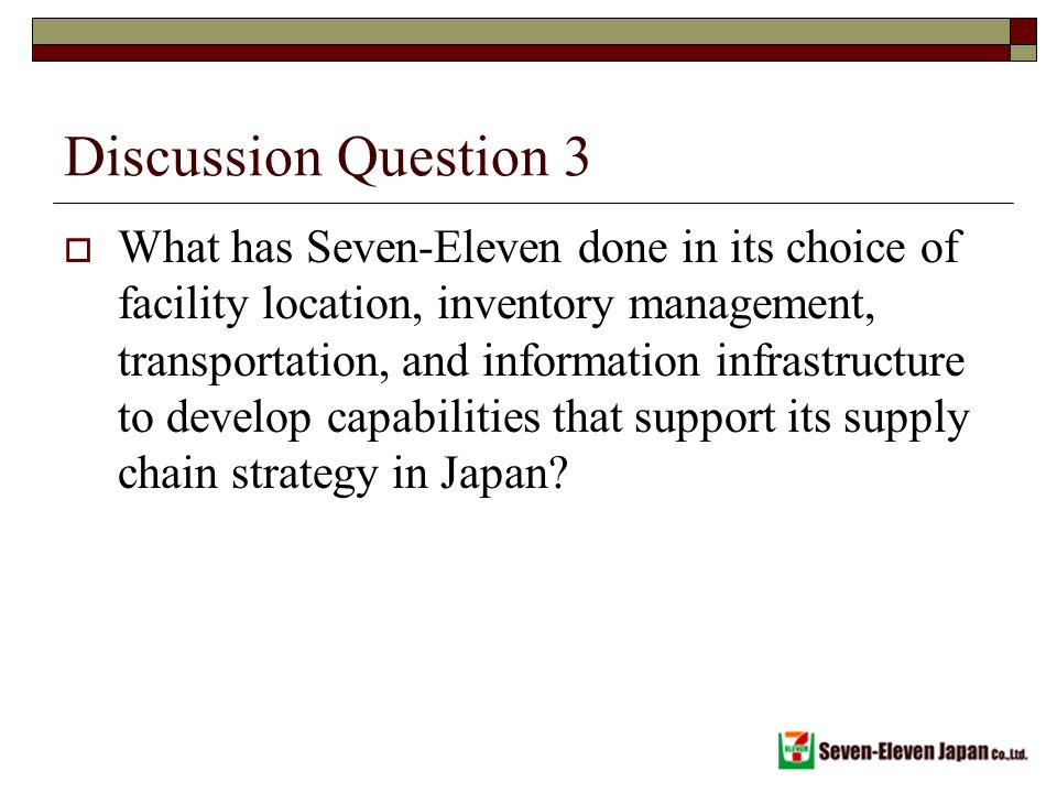 7 eleven supply chain management