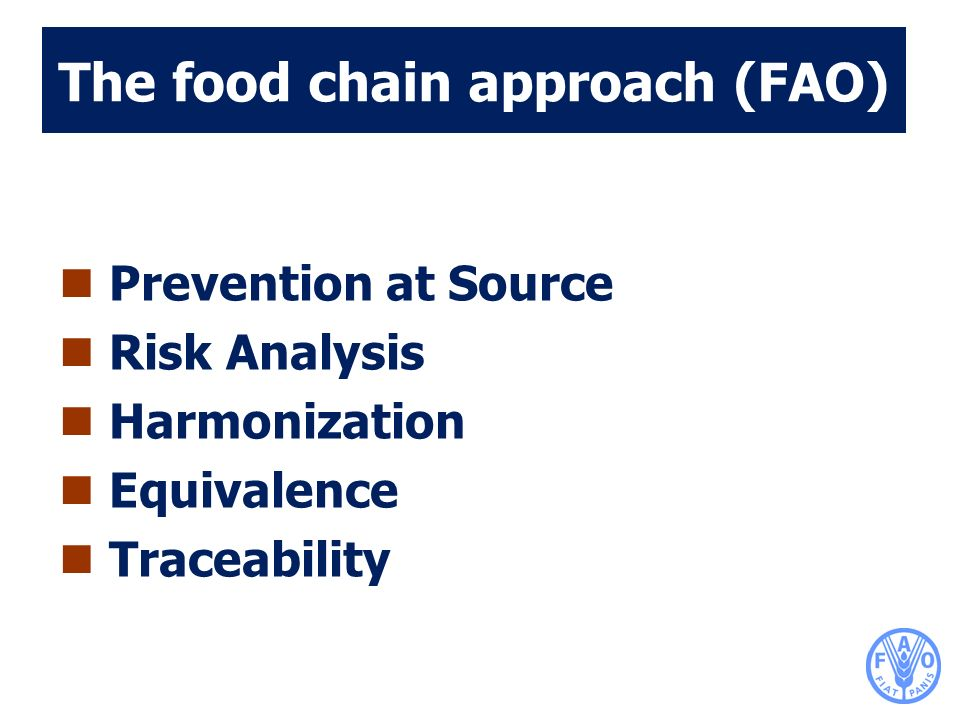 The food chain approach (FAO)