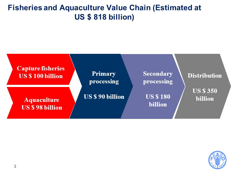 Fisheries and Aquaculture Value Chain (Estimated at US $ 818 billion)