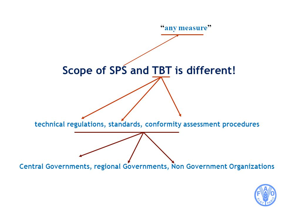 Scope of SPS and TBT is different!