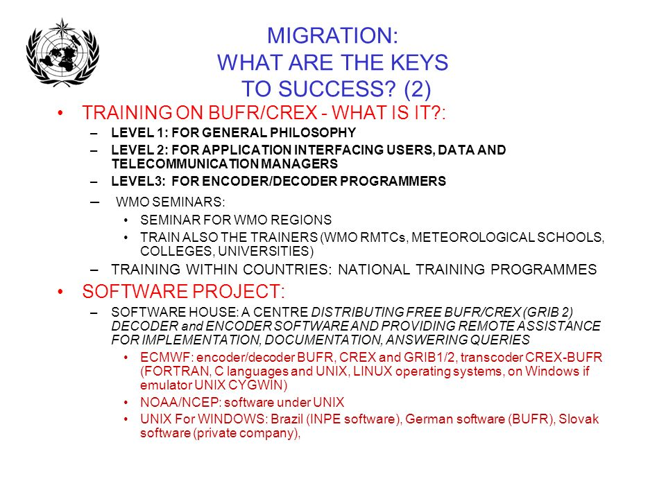 MIGRATION: WHAT ARE THE KEYS TO SUCCESS (2)
