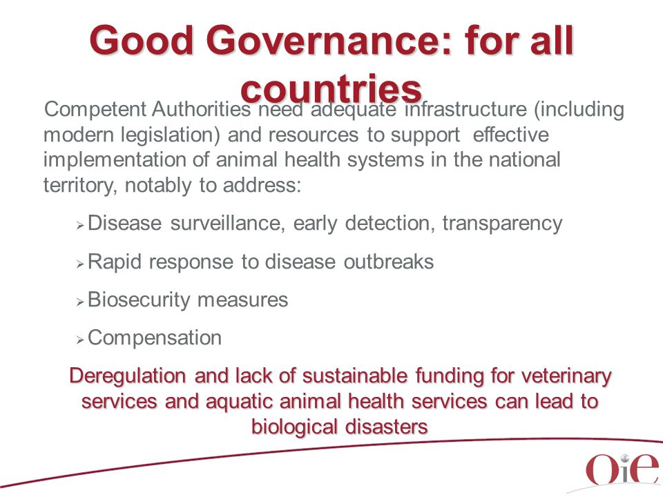 Good Governance: for all countries