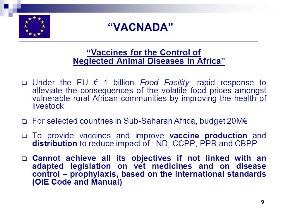 Vaccines for the Control of Neglected Animal Diseases in Africa