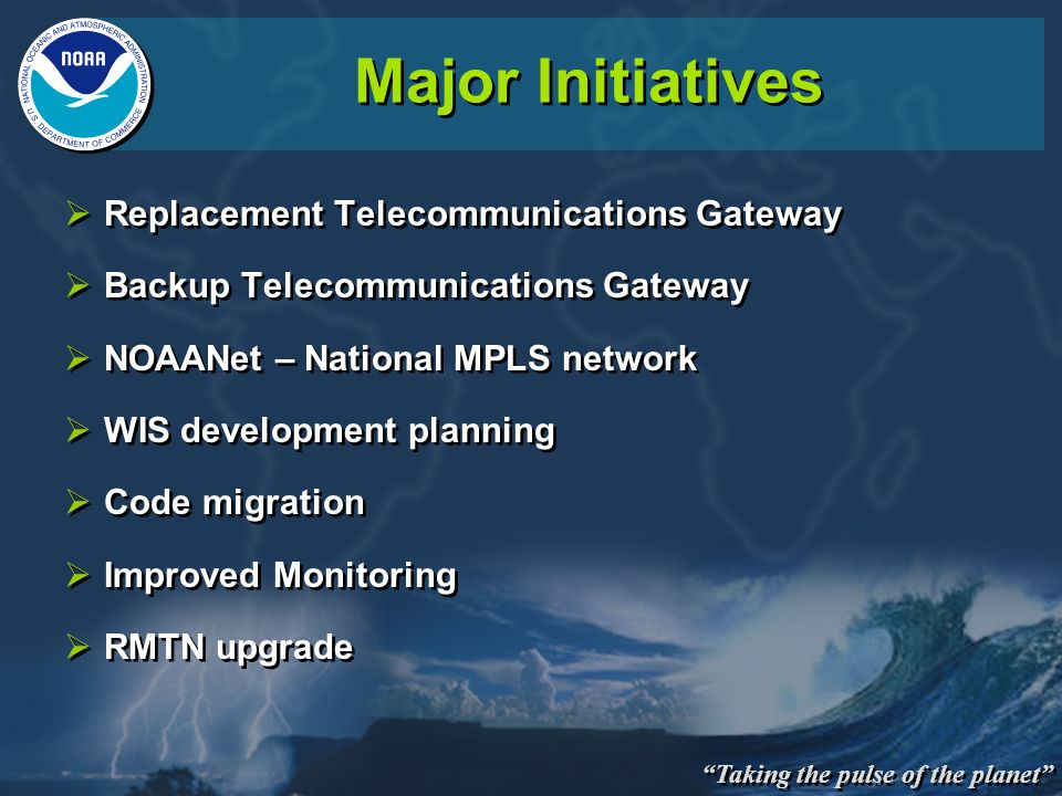 Major Initiatives Replacement Telecommunications Gateway
