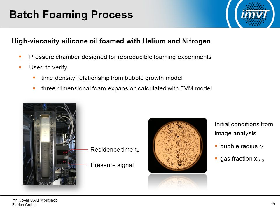 Numerical Simulation of Physical Foaming Processes - ppt