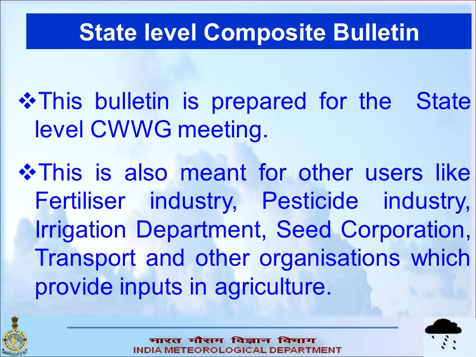 State level Composite Bulletin