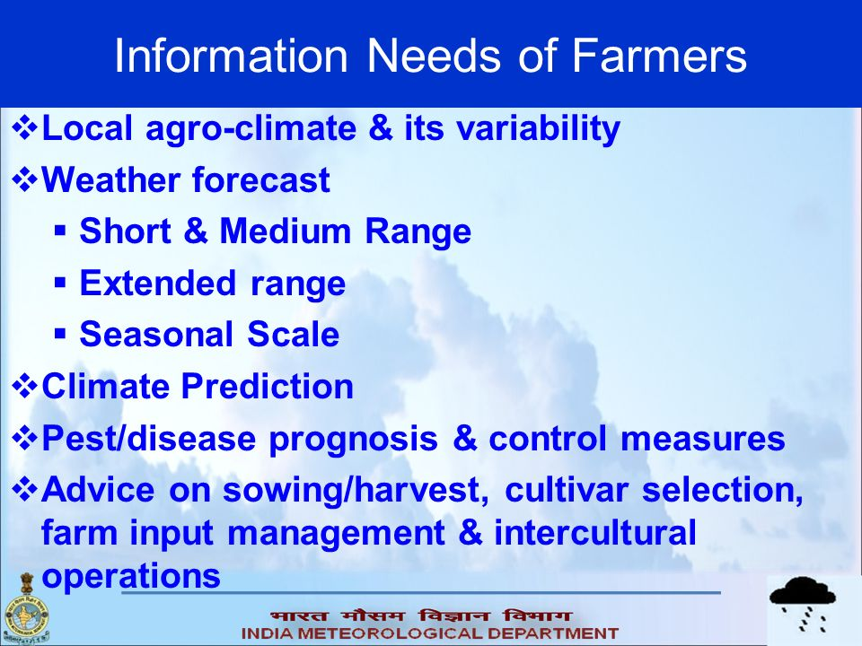 Information Needs of Farmers