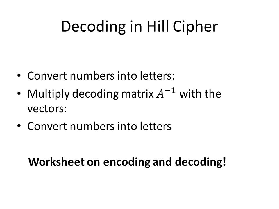 Cipher Convert Numbers To Letters