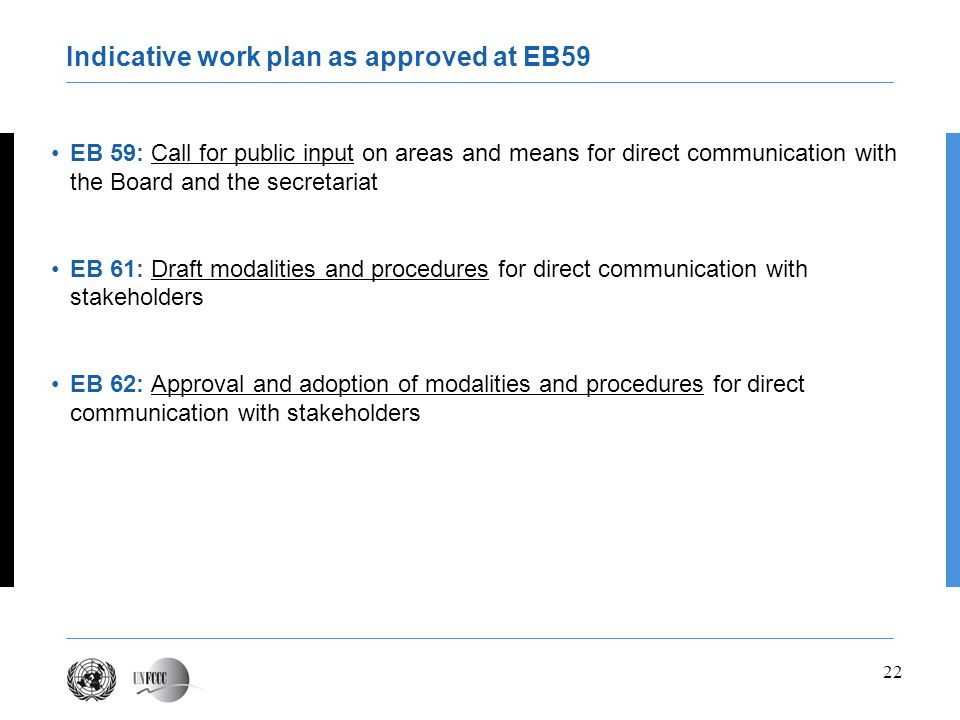 Indicative work plan as approved at EB59