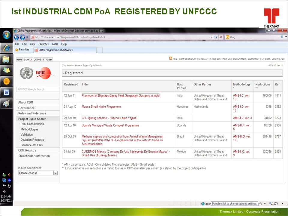 Ist INDUSTRIAL CDM PoA REGISTERED BY UNFCCC