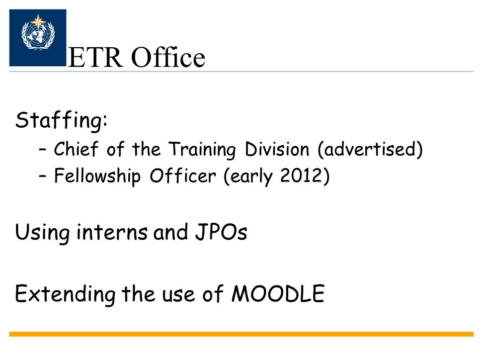 ETR Office Staffing: Using interns and JPOs