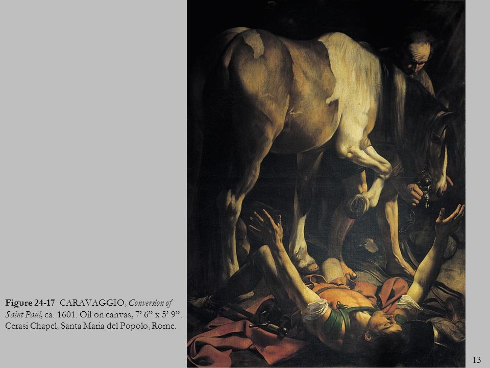 Figure 24-17 CARAVAGGIO, Conversion of Saint Paul, ca. 1601