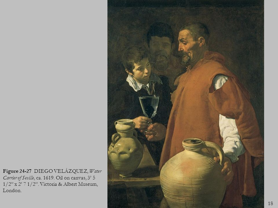 Figure 24-27 DIEGO VELÁZQUEZ, Water Carrier of Seville, ca. 1619