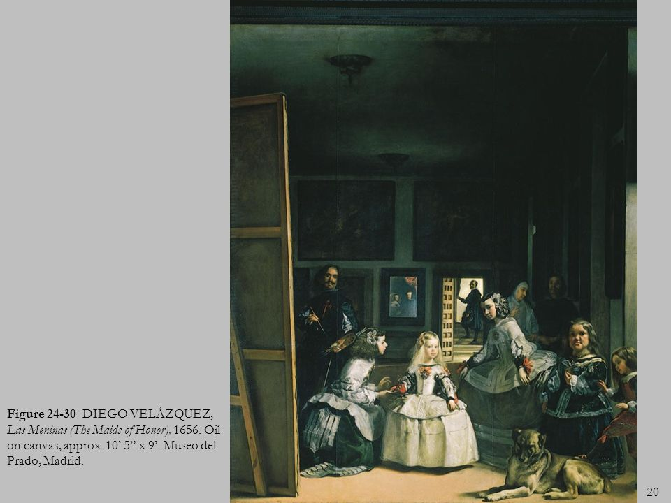 Figure 24-30 DIEGO VELÁZQUEZ, Las Meninas (The Maids of Honor), 1656