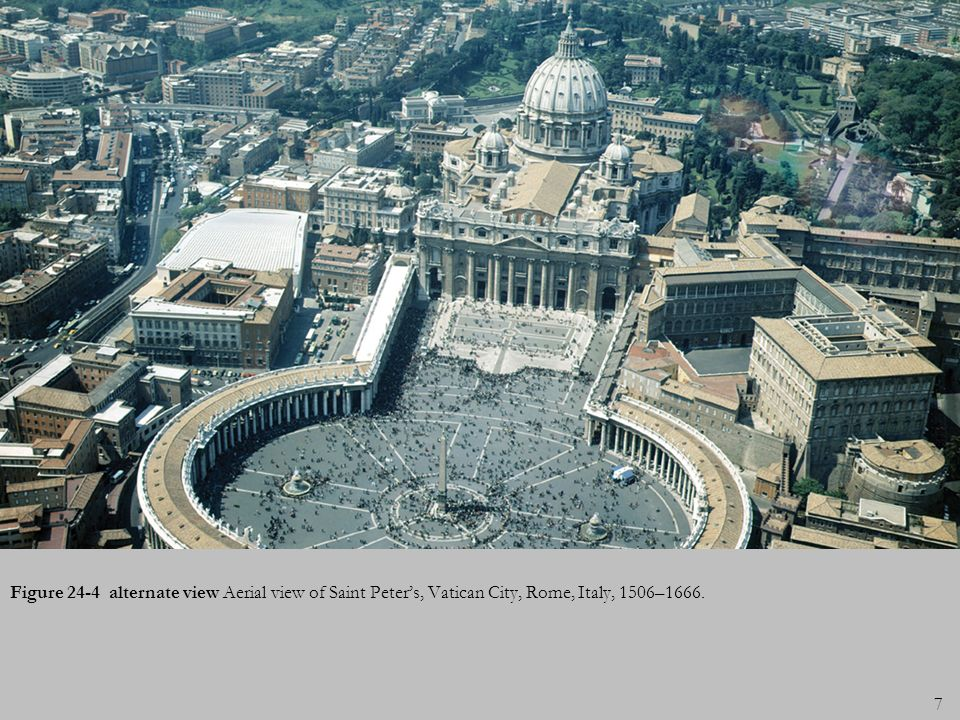 Figure 24-4 alternate view Aerial view of Saint Peter's, Vatican City, Rome, Italy, 1506–1666.